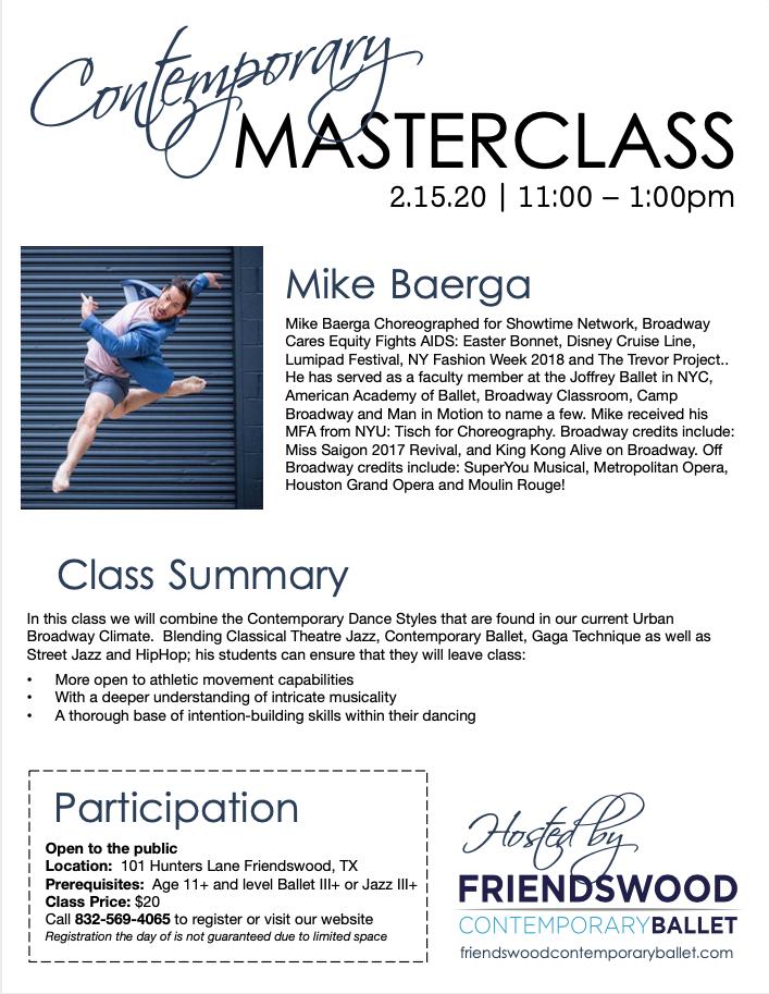 Master Class Flyer